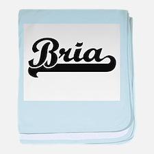 Bria Classic Retro Name Design baby blanket