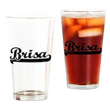 Brisa Classic Retro Name Design Drinking Glass