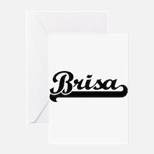 Brisa Classic Retro Name Design Greeting Cards