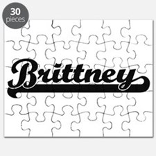 Brittney Classic Retro Name Design Puzzle