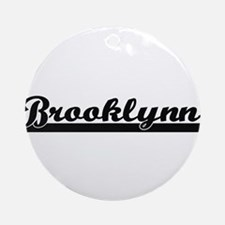 Brooklynn Classic Retro Name Desi Ornament (Round)