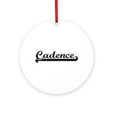 Cadence Classic Retro Name Design Ornament (Round)
