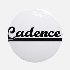 Cadence Classic Retro Name Design Ornament (Round)