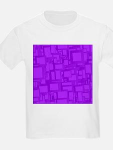 Moody Purple Abstract Art T-Shirt