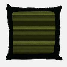 Elegant Olive Green Stripes Throw Pillow