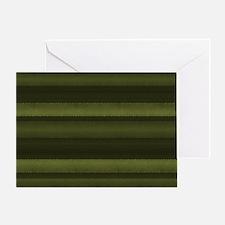 Elegant Olive Green Stripes Greeting Card