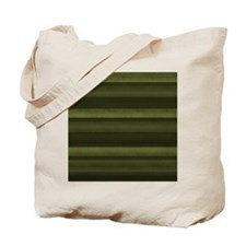 Elegant Olive Green Stripes Tote Bag