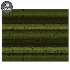 Elegant Olive Green Stripes Puzzle