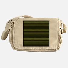 Elegant Olive Green Stripes Messenger Bag