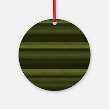 Elegant Olive Green Stripes Round Ornament