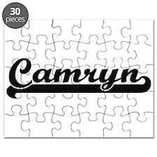 Camryn Classic Retro Name Design Puzzle