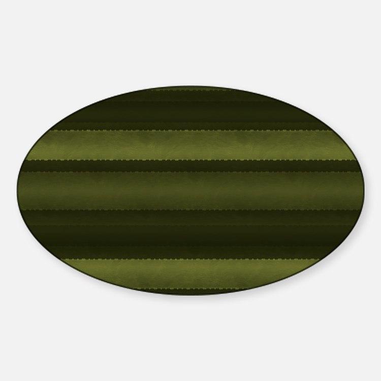 Elegant Olive Green Stripe Decal