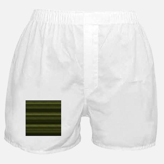 Elegant Olive Green Stripes Boxer Shorts