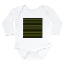 Elegant Olive Green Stripes Body Suit