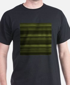 Elegant Olive Green Stripes T-Shirt