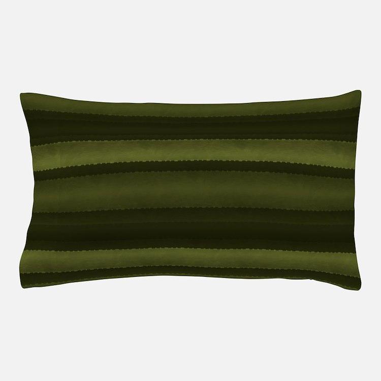 Elegant Olive Green Stripes Pillow Case