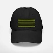 Elegant Olive Green Stripes Baseball Hat