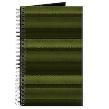 Elegant Olive Green Stripes Journal