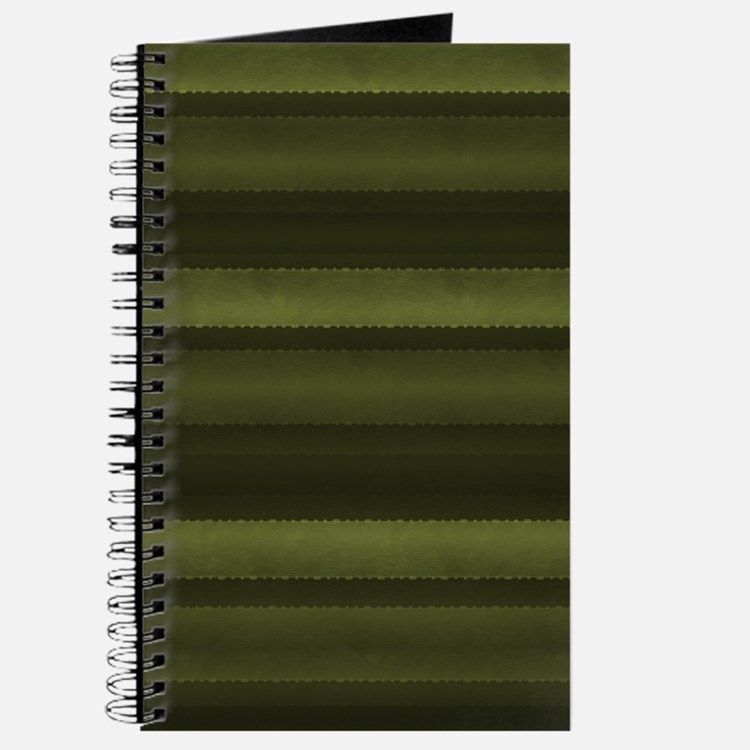 Elegant Olive Green Stripes Journal