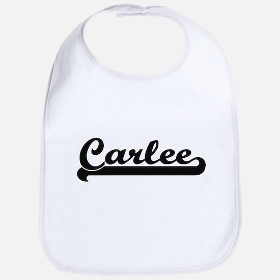 Carlee Classic Retro Name Design Bib