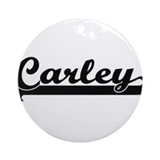 Carley Classic Retro Name Design Ornament (Round)