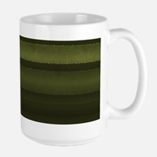 Elegant Olive Green Stripes Mugs