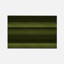 Elegant Olive Green Stripes Magnets