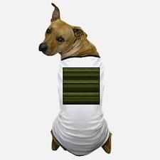 Elegant Olive Green Stripes Dog T-Shirt