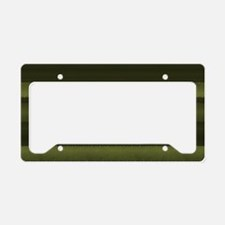 Elegant Olive Green Stripes License Plate Holder