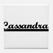 Cassandra Classic Retro Name Design Tile Coaster