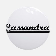 Cassandra Classic Retro Name Desi Ornament (Round)