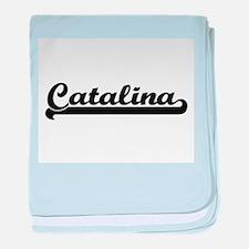 Catalina Classic Retro Name Design baby blanket
