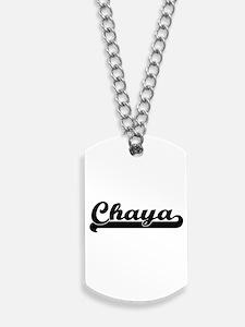 Chaya Classic Retro Name Design Dog Tags