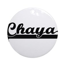 Chaya Classic Retro Name Design Ornament (Round)