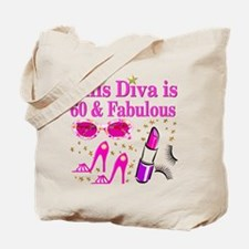 SNAZZY 60TH DIVA Tote Bag
