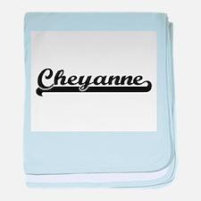 Cheyanne Classic Retro Name Design baby blanket