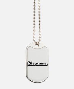 Cheyanne Classic Retro Name Design Dog Tags