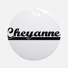 Cheyanne Classic Retro Name Desig Ornament (Round)