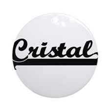 Cristal Classic Retro Name Design Ornament (Round)