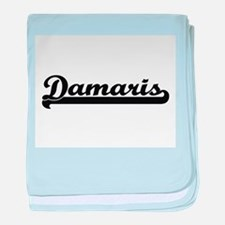 Damaris Classic Retro Name Design baby blanket