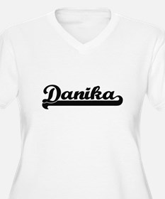 Danika Classic Retro Name Design Plus Size T-Shirt