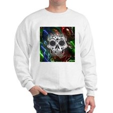 Skull with colorful marbled Vignette Sweater