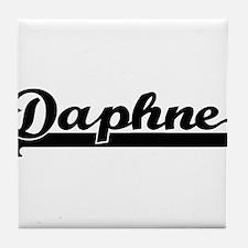 Daphne Classic Retro Name Design Tile Coaster