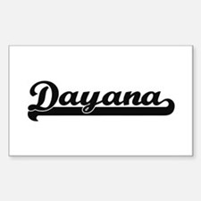Dayana Classic Retro Name Design Decal