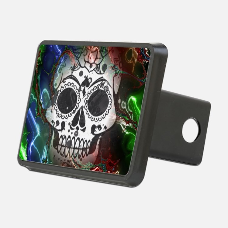Skull with colorful marble Hitch Cover