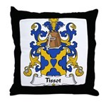 Tissot Family Crest Throw Pillow