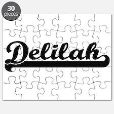 Delilah Classic Retro Name Design Puzzle