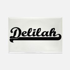 Delilah Classic Retro Name Design Magnets