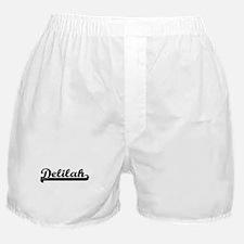 Delilah Classic Retro Name Design Boxer Shorts