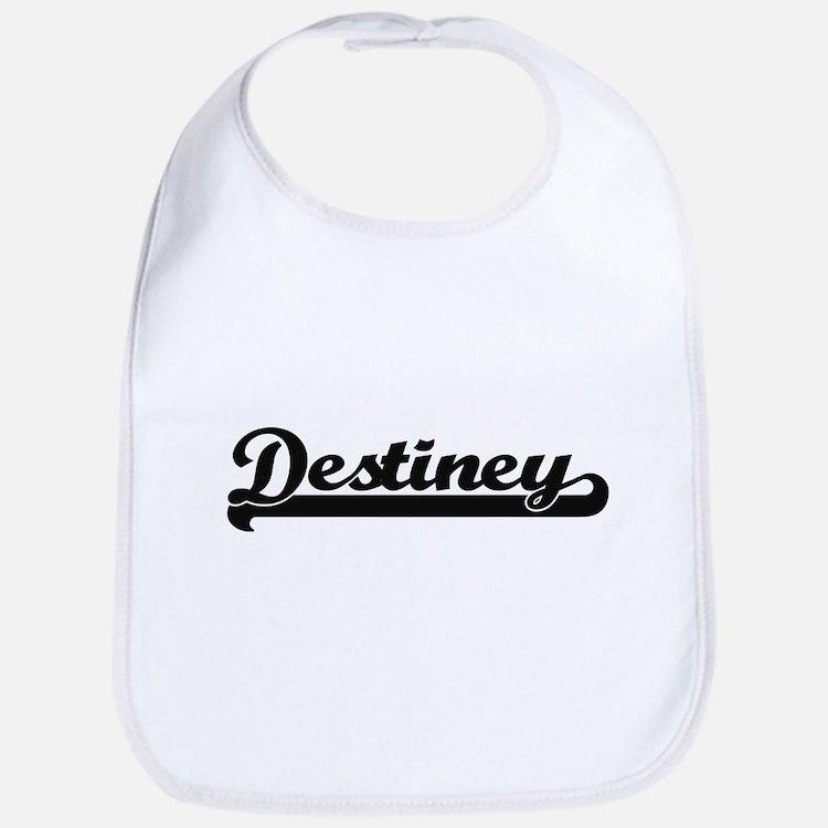 Destiney Classic Retro Name Design Bib